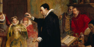 Painting of John Dee.