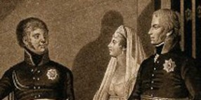 V0048261 Alexander I of Russia and Friedrich Wilhelm III and his wife