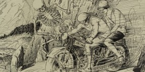 Death and the motorcyclists, 1929. Wellcome Library no. 44254i.