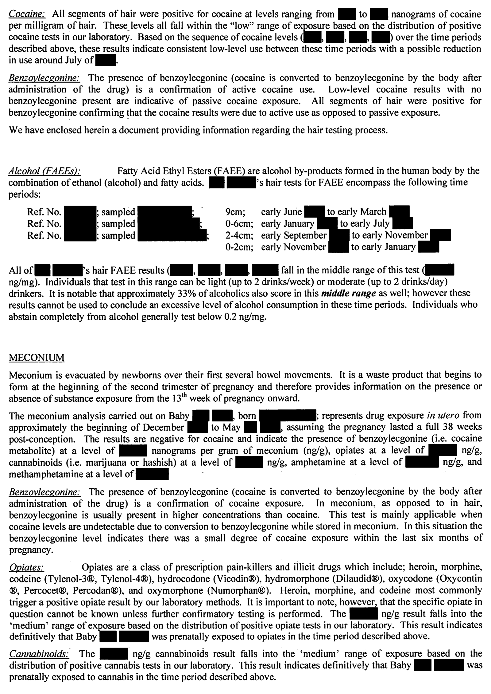 Report Of The Motherisk Hair Analysis Independent Review