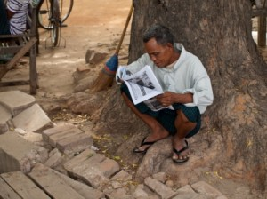 Myanmar news reader