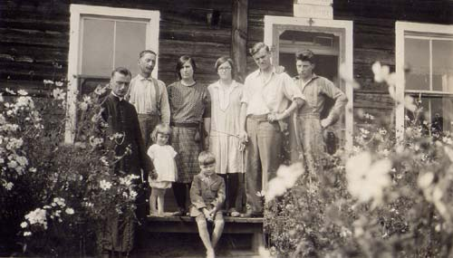 Ernest Forrend with family
