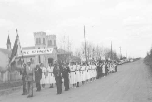 School Children Marching