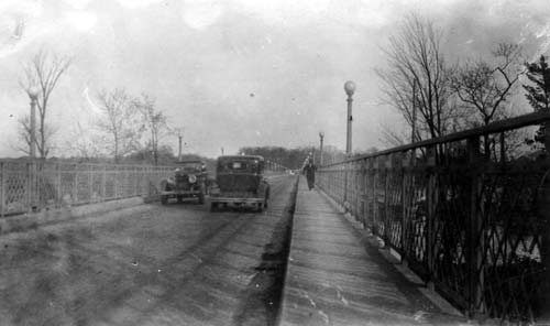 Chalifoux on bridge