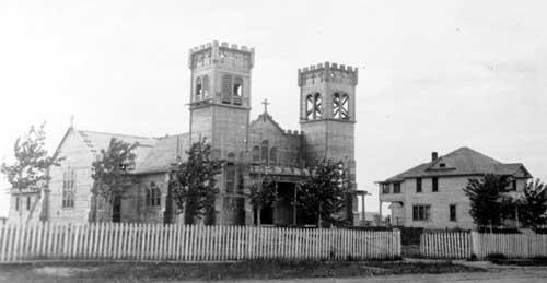 St. Vincent Church, under construction