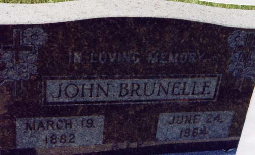 Tombstone John Brunelle
