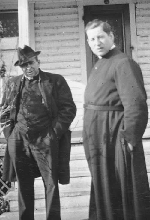 P. Charles Chalifoux and Fr. Gérard Forcade