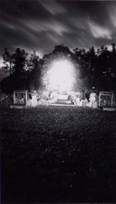 Grotto at St. Vincent at night