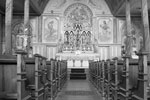 Fort Macleod, AB - Interior of  [Catholic] Church, July 1933, Photographer - A. Pilippot, OMI. (OB748 - Oblate Collection at the PAA)
