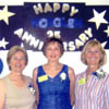 The NorGlen Rhythmic Gymnastics group was co-founded by Helgi Leesment (centre) shown with her collegues celebrating the 25th anniversary of the organization.