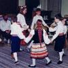 Group of Calgary Estonian students performing a folkdance, ca 1990