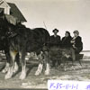 Members of the Hennel family enjoy a leisurely sleigh during the winter of 1910.