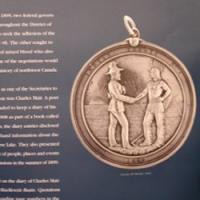Treaty medal from the Treaty 8 Exhibit