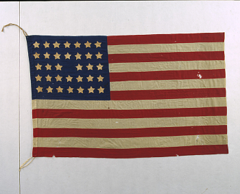 United States National 34-Star Flag,  Date: 1860s