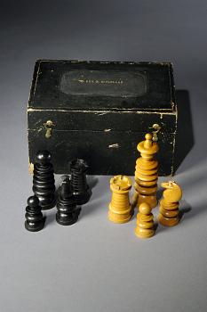 McClellan's Chess Set,  Name: McClellan, George B., Schuyler, Hartley & Graham,  Date: 1860s