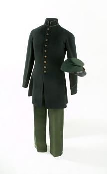 Berdan Sharpshooter Uniform,  Name: Berdan, Colonel C. H., Lincoln, Abraham,  Date: 1860s