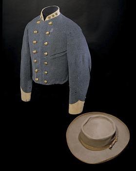 John Singleton Mosby's Cavalry Jacket and Hat,  Name: Mosby, John Singleton