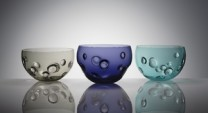 Bowls Description: blown glass Dimensions: H:10.00 x W:10.00 x D:10.00 Inches