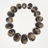 Wishing Description: Beach stones inlaid with fine silver. Dimensions: H:4.50 x W:46.00 x D:0.75 Centimeters