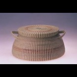 Covered Box Description: Sweetgrass, Pineneedles, bulrush, and palmetto Dimensions: H:9.00 x W:11.00 x D:15.00 Inches