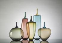 Needlenose Incalmo Vessels Description: Hand Blown Glass Dimensions: H:21.00 x W:5.00 x D:5.00 Inches