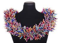Millions of Pencils Collar Description: Hand cut and assembled wool felt. Dimensions: H:18.00 x W:18.00 x D:4.00 Inches