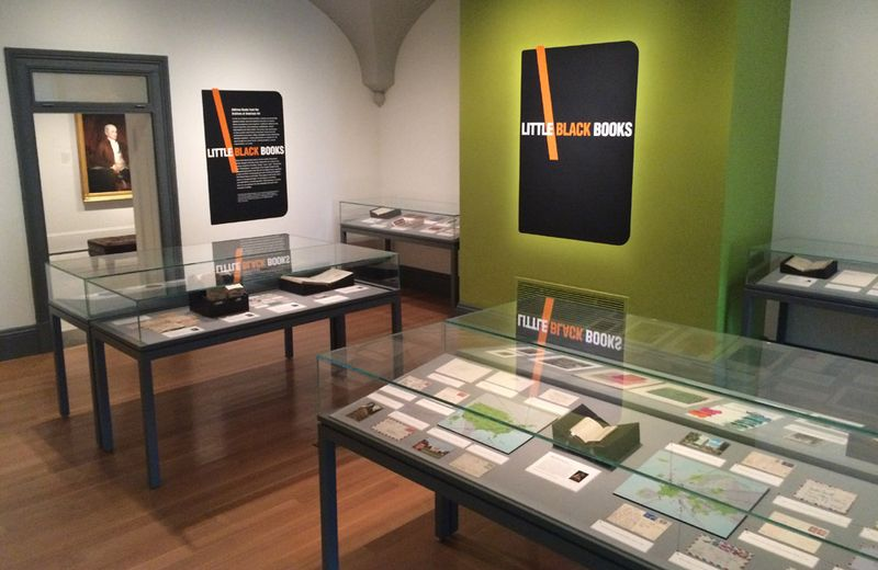 The Little Black Books exhibition officially opened in the Lawrence A. Fleischman Gallery on August 7, but the idea itself has been germinating for years. Photo: Mary Savig