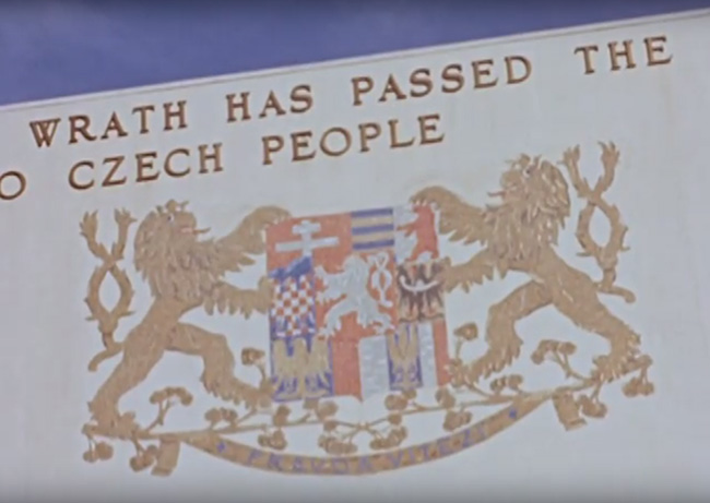 Czech pavililon Hildreth Meière footage of murals and friezes at the 1939 New York World's Fair, 1939. Hildreth Meière papers, 1901-2011, bulk 1911-1960. Archives of American Art, Smithsonian Institution.