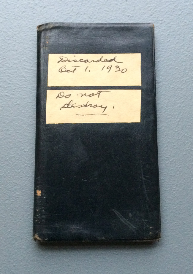 Do not destroy Walt Kuhn's address book. . . because archivists 85 years in the future are going to want to use it in an exhibition. Photo: Mary Savig