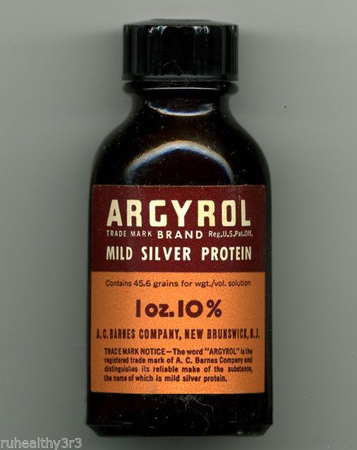 Bottle of Argyrol