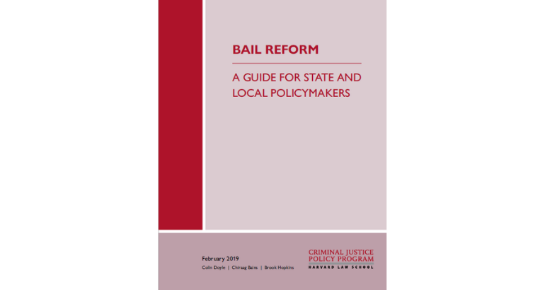 CJPP Releases a Comprehensive Guide to Bail Reform