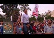 Egyptian Youth Protest against Anti-Protest Law a month before Elections