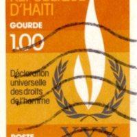 Haiti Declaration of Universal Human Rights Commemorative Postage