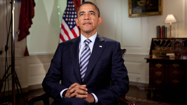 President Obama tapes the Weekly Address