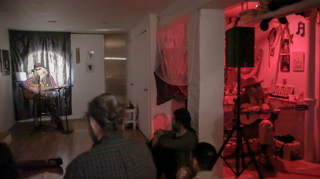 Paul McMahon and Linda Montano Performing at 321 Gallery. VIDEO STILL