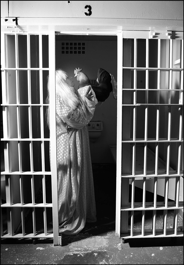 Linda Montano photographed by Amber S. Clark at the former Ulster County Jail in 2007.