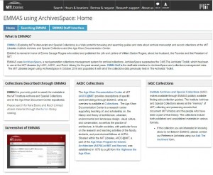EMMAS-Guide, a LibGuide with basic information about EMMAS.