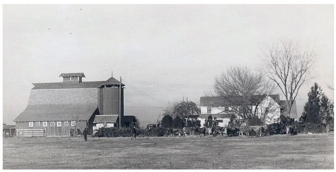 Historic photo of Spaulding Ranch.