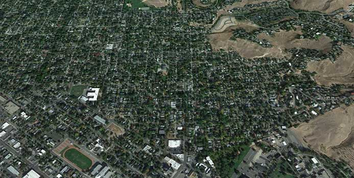 Photo of Boise's northern triangle