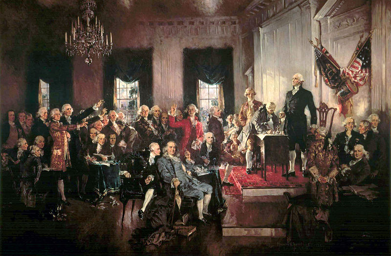 painting of signing declaration of independence