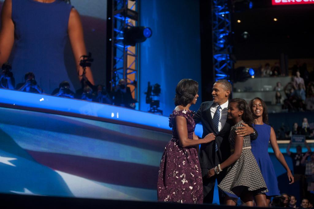 photo of obama family