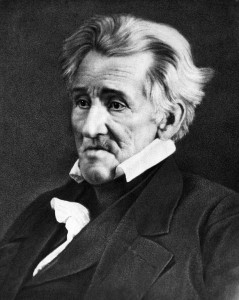 """Presbyterian Scotch-Irishman Andrew Jackson, elected in 1828, has been called America's first ethnic president.  Born in the Carolina backcountry soon after his parents arrived from Ulster, he denounced his rivals as """"British"""" and spoke with a Scotch-Irish burr.  Credit: 1845 daguerrotype by Edward Anthony; copied by Mathew Brady."""