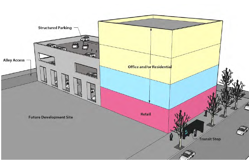 """""""Diversity"""" second only to """"small"""" is Blueprint Boise's most pervasive buzzword. Planners want a diversity of land use patterns with """"diverse neighborhoods,"""" a """"diverse economy"""" and even citizens of """"diverse"""" ages and occupation on city planning committees. Pictured: Vertical diversity incorporates a mix of uses a single building."""
