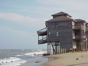 Beach engineering. Beaches move. Jetties, seawalls, and breakwaters that have been designed to keep beaches from moving often deflect the waves that replenish the sand.