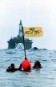 August 1997: Greenpeace activists protest