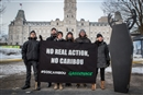 Greenpeace calls out Minister Blanchette's failure on caribou outside Quebec legislature