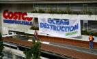 Greenpeace hangs      longline from Costco roof to highlight need for ocean protection