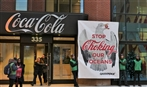 Delivering not-so-festive holiday greetings to Coke Canada's HQ