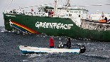 Greenpeace's Rainbow Warrior kicks off B.C. visit targeting salmon farms