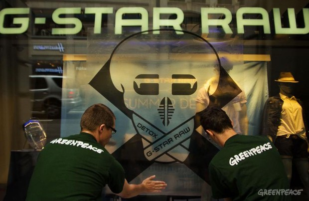 Detox Action against G-Star Raw Shop in Zurich